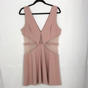 Bebe Sexy Blush Cocktail Dress